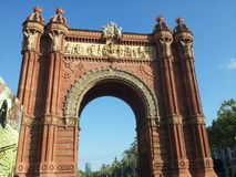 Arco del triomf Barcelona Imagem de Stock
