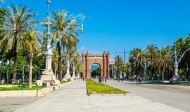 Arco del Triunfo Βαρκελώνη αψίδα θριάμβου, Ισπανία - 18 Μαΐου 2018 Στοκ εικόνες με δικαίωμα ελεύθερης χρήσης