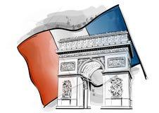 Arco del triunfo ilustración del vector