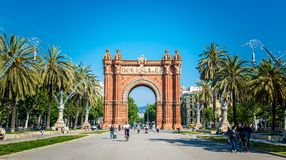 Arco del Triunfo Barcelona Triumph Arch, Spain - May 18, 2018. Arco del Triunfo Barcelona Triumph Arch, Spain - May 18, 2018 Royalty Free Stock Photos