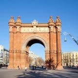 Arco del Triunfo Barcelona Triumph båge Fotografering för Bildbyråer