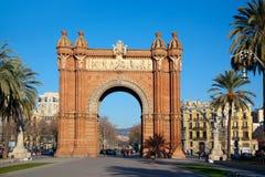 Arco del Triunfo Barcelona Triumph båge Arkivbild