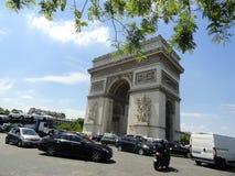 Arco del Triunfo de l'Ãtoile Fotos de archivo