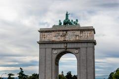 Arco del Triunfo de Madrid Fotos de archivo