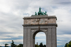 Arco del Triunfo de Madrid Stock Photos