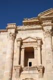Arco del triunfo en Jerash, Jordania de Hadrian Imagen de archivo
