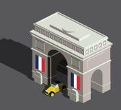 Arco del Triunfo isométrico Imágenes de archivo libres de regalías