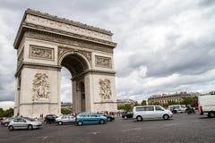 Arco del Triunfo París Imagen de archivo libre de regalías