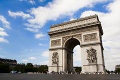 Arco del triunfo. Tiempo del día Imágenes de archivo libres de regalías
