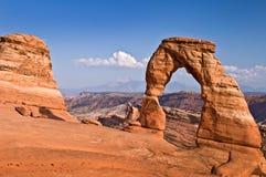Arco delicado, arcos parque nacional, Utah Imagen de archivo