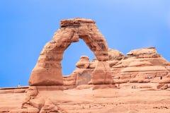 Arco delicado, arcos parque nacional, Utah Foto de archivo