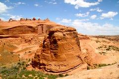 Arco delicado en horizonte, arcos parque nacional, Utah Foto de archivo