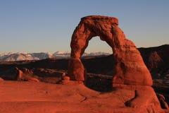 Arco delicado en la puesta del sol Fotos de archivo libres de regalías