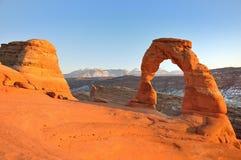 Arco delicado en la puesta del sol Foto de archivo libre de regalías