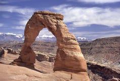 Arco delicado en los arcos park foto de archivo libre de regalías