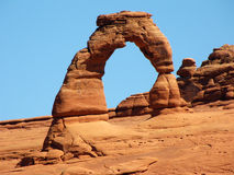 Arco delicado no parque nacional dos arcos Fotografia de Stock