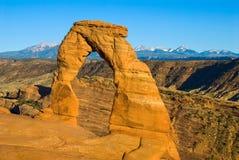 Arco delicado no parque nacional dos arcos em Moab Utá Imagens de Stock Royalty Free