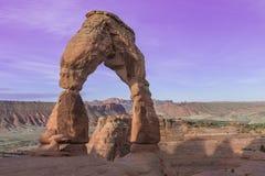 Arco delicado no parque nacional dos arcos perto de Moab, Utá Fotos de Stock Royalty Free