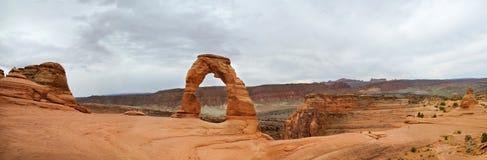 Arco delicado panorâmico Imagem de Stock