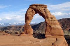Arco delicado, parque nacional de los arcos Fotos de archivo