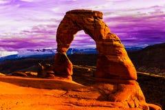 Arco delicado, parque nacional de los arcos Imagen de archivo