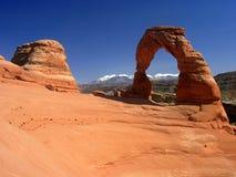 Arco delicado. Parque nacional dos arcos Fotografia de Stock Royalty Free