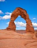 Arco delicado. Parque nacional dos arcos Fotos de Stock Royalty Free