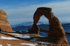 Arco delicado perto de Moab Utá Foto de Stock Royalty Free