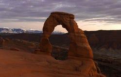 Arco delicato al crepuscolo Fotografie Stock Libere da Diritti