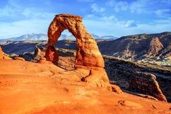 Arco delicato, Utah Immagini Stock