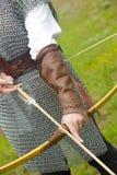 arco dell'armatura medioevale Fotografia Stock Libera da Diritti