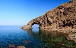Arco dell'Elefante, Pantelleria Royaltyfri Bild