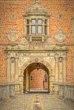 Arco dell'entrata del castello di Vallo fotografie stock libere da diritti