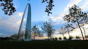 Arco dell'ingresso a St. Louis, Missouri archivi video