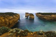 Arco dell'isola sulla grande strada dell'oceano Fotografia Stock Libera da Diritti