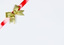 Arco dell'oro su bianco Fotografie Stock