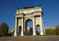 Arco della步幅米兰意大利 免版税图库摄影