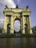 Arco della步幅米兰意大利 库存照片