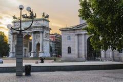 Arco della米兰步幅 库存照片