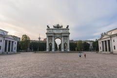 Arco della米兰步幅 免版税库存图片
