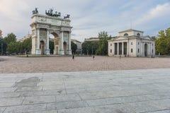 Arco della米兰步幅 免版税图库摄影