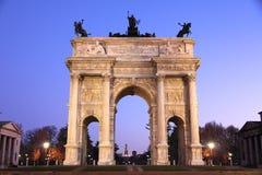 arco della Italy Milan tempo Obraz Stock