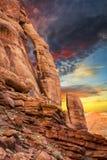 Arco della maniglia della brocca al tramonto Fotografia Stock Libera da Diritti