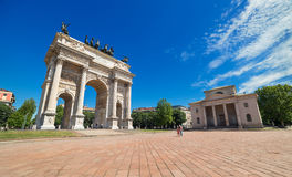 Arco della Pace, The Arch of Peace in Milan, Italy, May of 2014 Stock Images