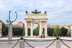 Arco della Pace (Arch of the Peace) Stock Photography