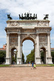 Arco della Pace in Milan Stock Photos