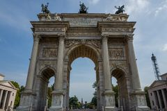 Arco Della Pace in Milan. Italy Royalty Free Stock Photo
