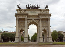 Arco della Pace in milan Stock Photos