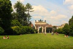 Arco della Pace, Milan Stock Image