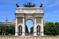 The Arco della Pace monument in Milan, Italy Stock Photo